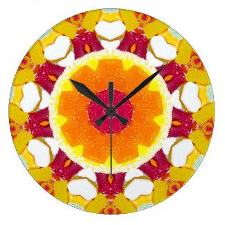 Relógio Grande Fractal dos doces em abundância