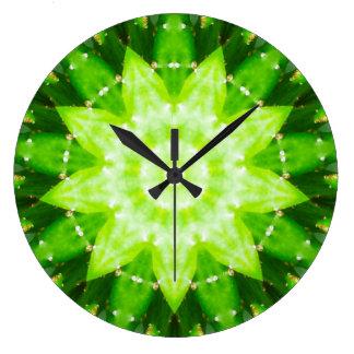 Relógio Grande Fractal espinhoso brilhante do Succulent