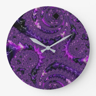 Relógio Grande Fractal roxo