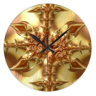 Relógio Grande Fractals do rico & do divertimento com padrões