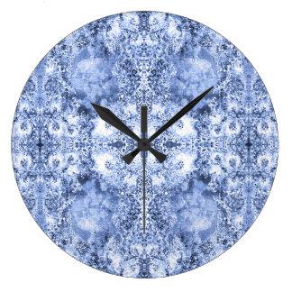 Relógio Grande Francês País Mosaico Du Vin Mandala 1 por Deprise