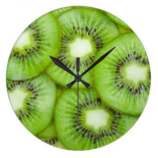 Relógio Grande Fruta de quivi verde
