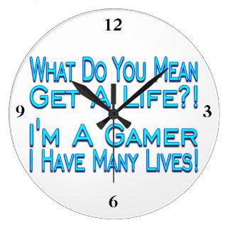 Relógio Grande Gamer de muitas vidas