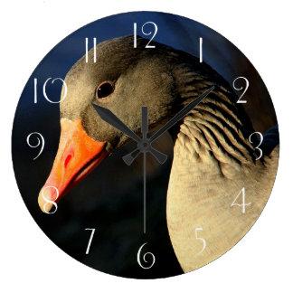 Relógio Grande Ganso de pato bravo europeu bonito