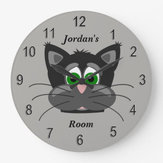 Relógio Grande Gato bonito do pulso de disparo das crianças