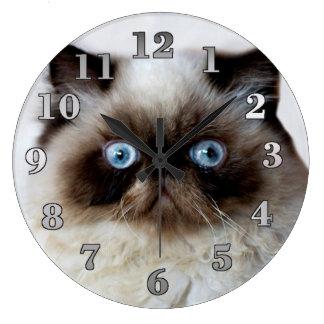 Relógio Grande Gato engraçado