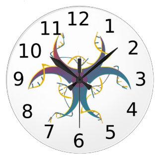 Relógio Grande Gene que emenda o bio símbolo do perigo
