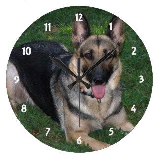 Relógio Grande German shepherd: Pulso de disparo de parede