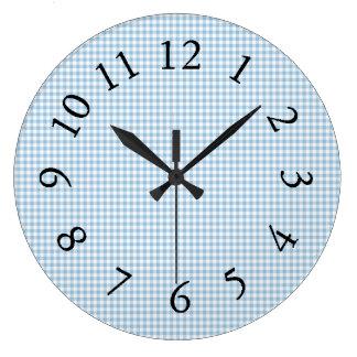 Relógio Grande Gingham_Blue-Classic-Country_