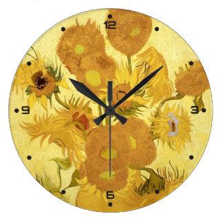 Relógio Grande Girassóis por Vincent van Gogh