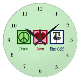 Relógio Grande Golfe do disco do amor da paz