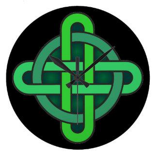 Relógio Grande gre irlandês pagão do símbolo antigo celta de