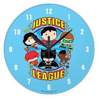 Relógio Grande Grupo da liga de justiça de Chibi
