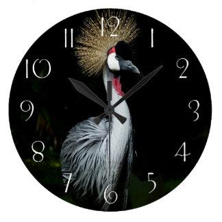 Relógio Grande Guindaste coroado cinza de África do Sul