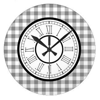 Relógio Grande Guingão cinzento e branco