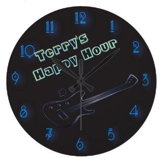 Relógio Grande Happy hour personalizado de incandescência do