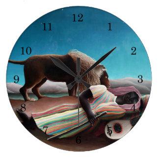Relógio Grande Henri Rousseau o vintage aciganado do sono