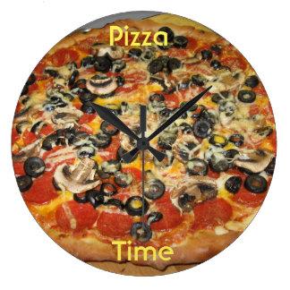 Relógio Grande Hora para a pizza