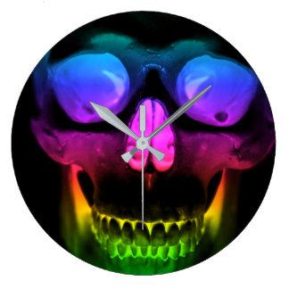 Relógio Grande Horror gótico surreal de incandescência do crânio