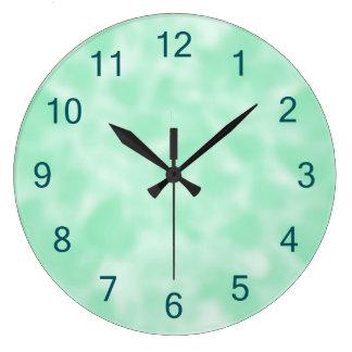 Relógio Grande Hortelã verde e branco Mottled