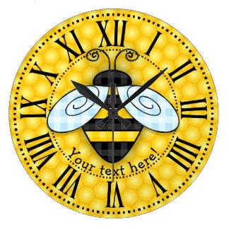 Relógio Grande Ícone de zumbido do zangão e do favo de mel
