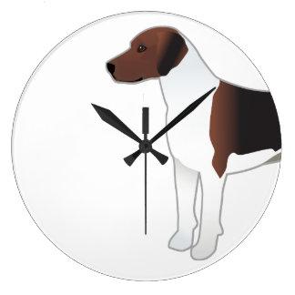 Relógio Grande Ilustração básica do cão de cão da raça do Harrier