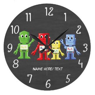 Relógio Grande Ilustração colorida dos robôs