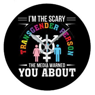 Relógio Grande Im os meios assustadores da pessoa de Transgender