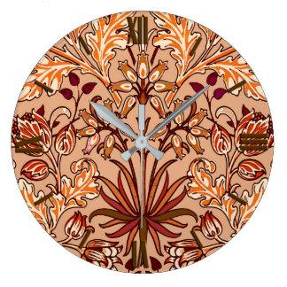 Relógio Grande Impressão, Brown e bege do jacinto de William