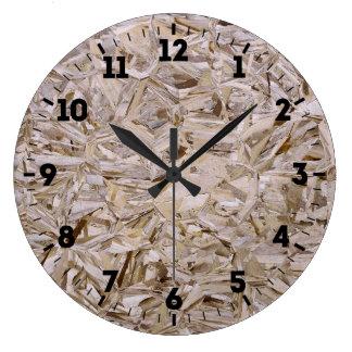 Relógio Grande Impressão de cobertura da madeira compensada da