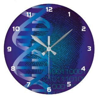 Relógio Grande Impressão digital do ADN de CSI
