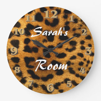 Relógio Grande Impressão do leopardo