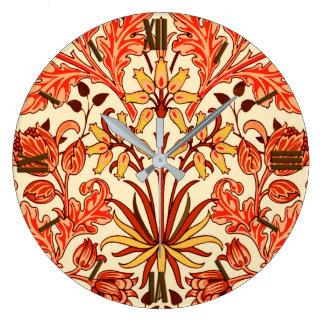 Relógio Grande Impressão, laranja e oxidação do jacinto de