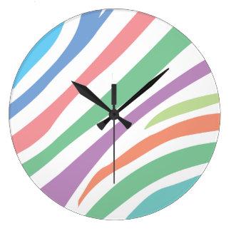 Relógio Grande Impressão Pastel do tigre