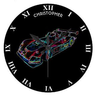 Relógio Grande Incandescer Sparkling competindo o néon luxuoso
