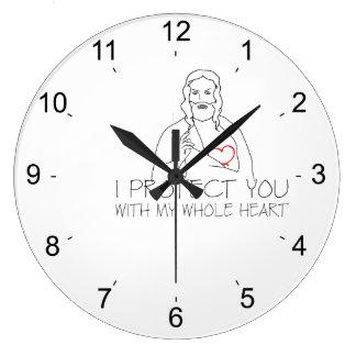 Relógio Grande Jesus Cristo - eu protejo-o