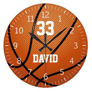 Relógio Grande Jogador do basquetebol | de Personalizable nenhum