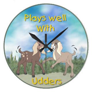 Relógio Grande Jogos das cabras do bebê bem com o pulso de