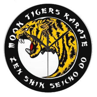 Relógio Grande Karaté dos tigres da lua