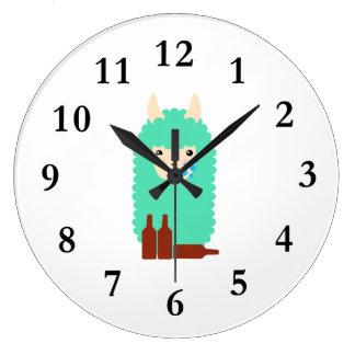 Relógio Grande Lama bêbedo de Emoji