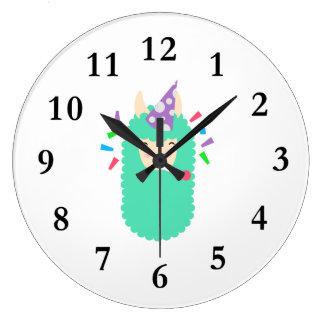 Relógio Grande Lama de Emoji do partido do divertimento