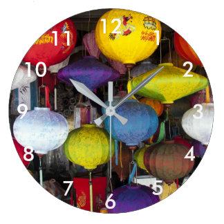 Relógio Grande Lanternas vietnamianas