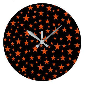 Relógio Grande Laranja estrelado da noite estrelado