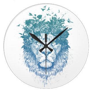 Relógio Grande Leão floral