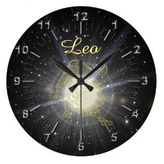 Relógio Grande Leo brilhante