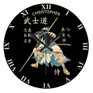 Relógio Grande Língua japonesa das virtudes do samurai oito de