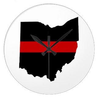 Relógio Grande Linha vermelha fina pulso de disparo de Ohio