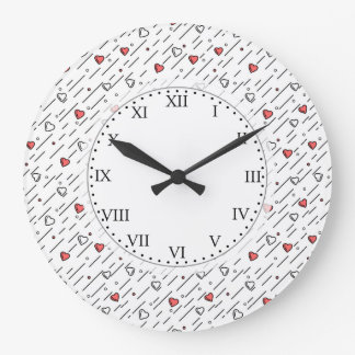 Relógio Grande Linhas de coração