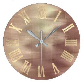 Relógio Grande Linhas magros Numers romano metálico do falso