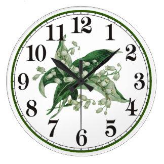 Relógio Grande Lírio 2 de Samantha
